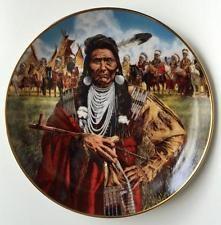 Fine porcelan decorative plate CHIEF JOSEPH-MAN OF PEACE by Paul Call... Lot 38B