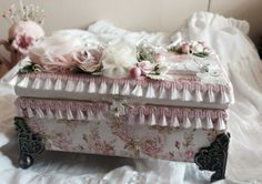 Shabby Chic Cigar Box - Scrapbook.com