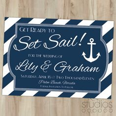 Nautical Save the Date // Deposit // Professionally by lestudios, $20.00