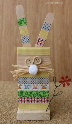 Craft Day, Art N Craft, Craft Gifts, Spring Crafts For Kids, Art For Kids, Easter Activities For Preschool, Wood Crafts, Diy And Crafts, Church Crafts