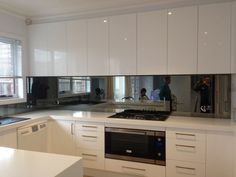 Grey Ash Mirror Splashback by UGS