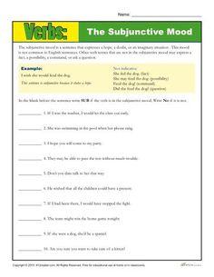 practicing verb worksheet the imperative mood tutoring language arts verb worksheets. Black Bedroom Furniture Sets. Home Design Ideas
