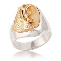 Mens Bridger Elk Ivory Ring