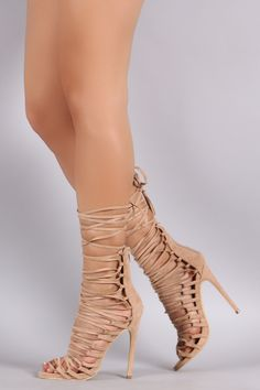 7cf10b80261e Privileged Suede Corset Lace-Up Stiletto Heel Pumps