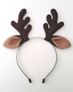 Items similar to Reindeer Antlers Headband With Ears - Plush Christmas Fancy Dress Cosplay Party Alice Band Cute Hair Accessory on Etsy Reindeer Ears, Reindeer Headband, Reindeer Antlers, Reindeer Costume, Antler Headband, Diy Headband, Christmas Costumes, Christmas Crafts, Diy Christmas Headbands
