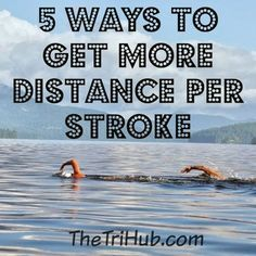 5 Ways to Get More Distance Per Stroke during your next triathlon open water swim Swimming Drills, Triathlon Swimming, Sprint Triathlon, Swimming Tips, Keep Swimming, Triathlon Training, Swimming Workouts, Bike Workouts, Cycling Workout
