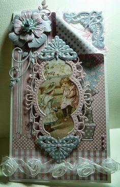 Anja Design Beautiful Handmade Cards, Unique Cards, Creative Cards, Scrapbook Cards, Scrapbooking, Marianne Design Cards, Motif Vintage, Spellbinders Cards, Bday Cards