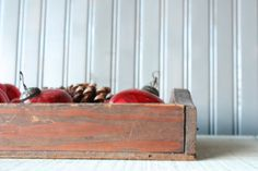 Primitive Wood Tray // Rustic Storage by genrestoration on Etsy, $28.00