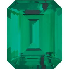 5x3mm Emerald/Octagon Faceted Chatham Created Emerald