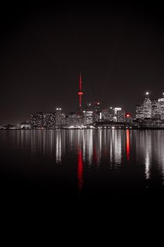 Toronto, Canada- Love this city! Splash Photography, City Photography, Color Splash, Color Pop, Colour, Foto Glamour, Night City, Black White Red, City Lights
