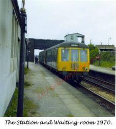 burn naze station train heading to poulton Blackpool, Trains, Past, Past Tense, Train