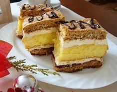 Un desert delicios, pretabil la ocazii festive, este savuroasa Prajitura cu foi de miere blat pandispan si crema. Se prepara destul de usor si este nemaipomenit de gustoasa. Ingrediente Prajitura cu foi de miere blat pandispan si crema: Foi cu miere: 2 cani faina 1 lingurita praf de copt 4