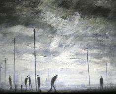 Theodore Major, Rain Telegraph poles on ArtStack #theodore-major #art