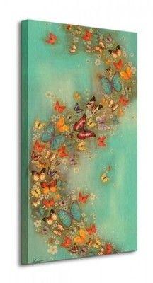 Kolorowe Motyle - Obraz na płótnie 30x60 cm