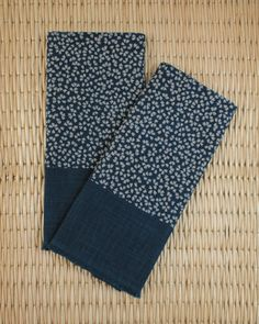 Tea Towel Indigo Floral
