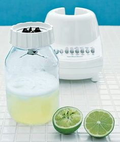 Use a mason jar instead of your blender pitcher!