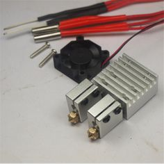 Reprap 3 D printer E3D Chimera Dual Volcano HotEnd kit power pack 3D Printing Multi Extrusion HotEnd full kit 1.75 mm