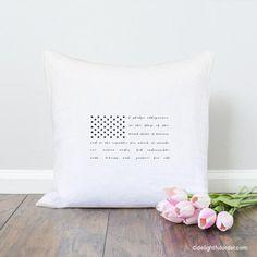 Patriotic Flag Throw Pillow, Pillow Cover, Farmhouse Pillow, Home Decor, Gift, Housewarming Gift, Pillow