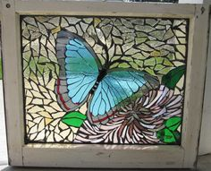 butterfly mosaic window by ~reflectionsshattered on deviantART