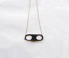 Geometric Necklace, Circle Necklace, Wearable Art, Pendant, Metal, Silver, Black, Money, Black People
