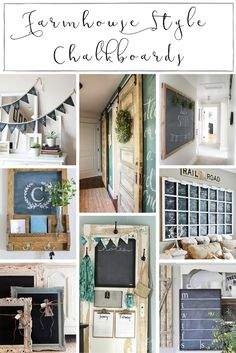 DIY Home Decor Ideas : Illustration Description 12 Farmhouse Style Chalkboard Projects you Just Won't be Able to Resist -Read More – Cool Diy Projects, Home Projects, Farmhouse Style, Farmhouse Decor, City Farmhouse, Farmhouse Design, Modern Farmhouse, Home Decor Inspiration, Decor Ideas