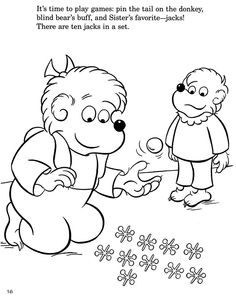 colouring in page sample from bearenstain bears colouring with numbers book via berenstain - Berenstain Bears Coloring Book