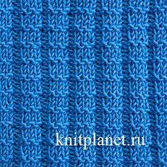 Фактурная резинка спицами - В основе этой вязки резинка 3х2. За счет рядов изнаночных петель она приобретает выразительную фактуру. Узор отлично подойдет для вязания шапочек, свитеров, джемперов в спортивном стиле.