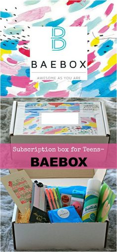 A fabulous idea, BAEBOX Teen- a subscription especially for teenage girls! | cherishedbyme.com