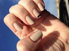 mustache nail art #5