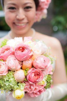 新郎新婦様からのメール 都ホテルさまへ ロマンティックアンティークというバラ : 一会 ウエディングの花