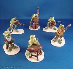 Hagen Renaker Porcelain Frog Band 3179 80 81 82 83 88 Froggie Mountain Breakdown | eBay