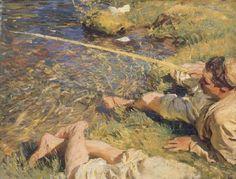 John Singer Sargent, A Man Fishing