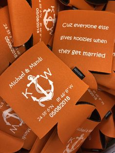 EVEYRONE should give KOOZIES at all their big events!!!  Use code Pinterest at checkout for 15% off.  #everyonegiveskoozies #wedding #favor #weddingfavors #party #favors #kustomkoozies Wedding Koozies, Free Graphics, Kustom, Personalized Wedding, Got Married, Party Favors, Inspirational, Events, Big
