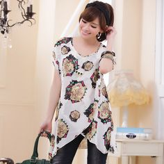 chiffon women tops wholesale k9221 White - $11.33