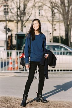 Liu Wen off-duty in Paris