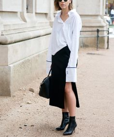 How to Wear a Slit Skirt Like a Street Style Star