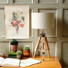 Table lamps and Tripod lamps from The Cotswold Company