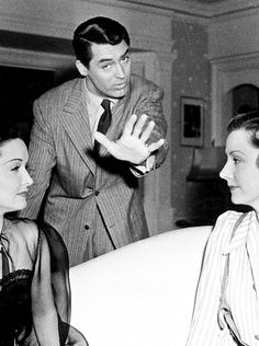 Cary Grant, Gail Patrick, and Irene Dunne on the set of My Favorite Wife, 1940  One of my favorite movies!!!!!