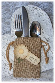 Rustic but elegant BURLAP WEDDING FAVOR bags with by nuts4mccoy, $20.00