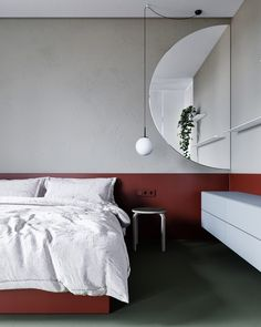 These modern homes showcase creative ways to use red decorations, red furniture, and even red accent walls - perfect inspiration for your next red interior palette. Home Bedroom, Modern Bedroom, Bedroom Decor, Bedrooms, Red Colour Palette, Color Palettes, Red Color, Hotel Room Design, Red Interiors