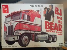 AMT 1980 BJ and the Bear Model kit 1/25 scale Kenworth Aerodyne Cabover Rare