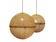 Pendant lamp / contemporary / wood BAMBOO BALL : 332.101.3 AY ILLUMINATE