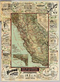 Amazing California Bicycle Map