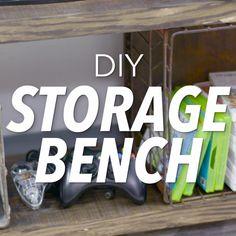 New Kitchen Diy Videos Storage Building Ideas Diy Storage Bench, Built In Storage, Kitchen Storage, Storage Ideas, Kitchen Organization, Storage Hacks, Woodworking Videos, Diy Woodworking, Woodworking Machinery