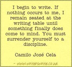 Quotable - Camilo José Cela - Writers Write Creative Blog
