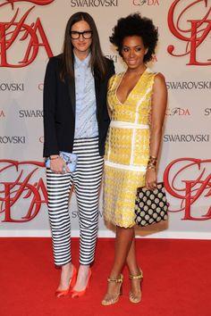 Jenna Lyons and Solange.