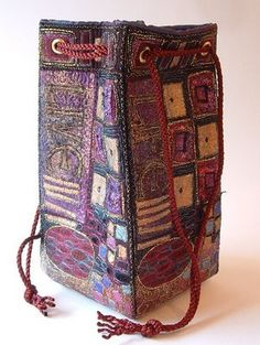 Live Life Bag--machine embroidery by Angie Hughes