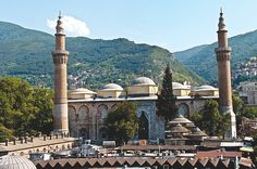 Bursa Grand Mosque - or Ulu Cami is the largest mosque in Bursa, Turkey. Built in the Seljuk style, it was ordered by the Ottoman Sultan Bayezid I and built between 1396 and 1399. The mosque has 20 domes and 2 minarets. www.BursaUluCamii.com http://en.wikipedia.org/wiki/Bursa_Grand_Mosque