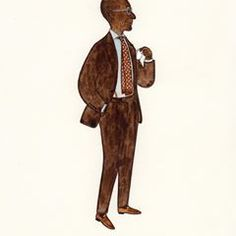 Mr Colombiano d'Almeida from Kiton Paris #menswear #mensfashion #suit #fashionillustration #slowboy