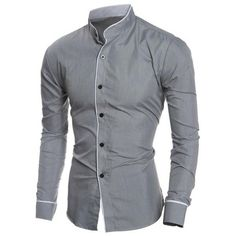 8d3023e14671 ... China chemise homme fashion Suppliers  Men S Shirt 2017 New Fashion  Solid color Men S Slim Business Casual Brand Clothing Long Sleeve Chemise  Homme XXL